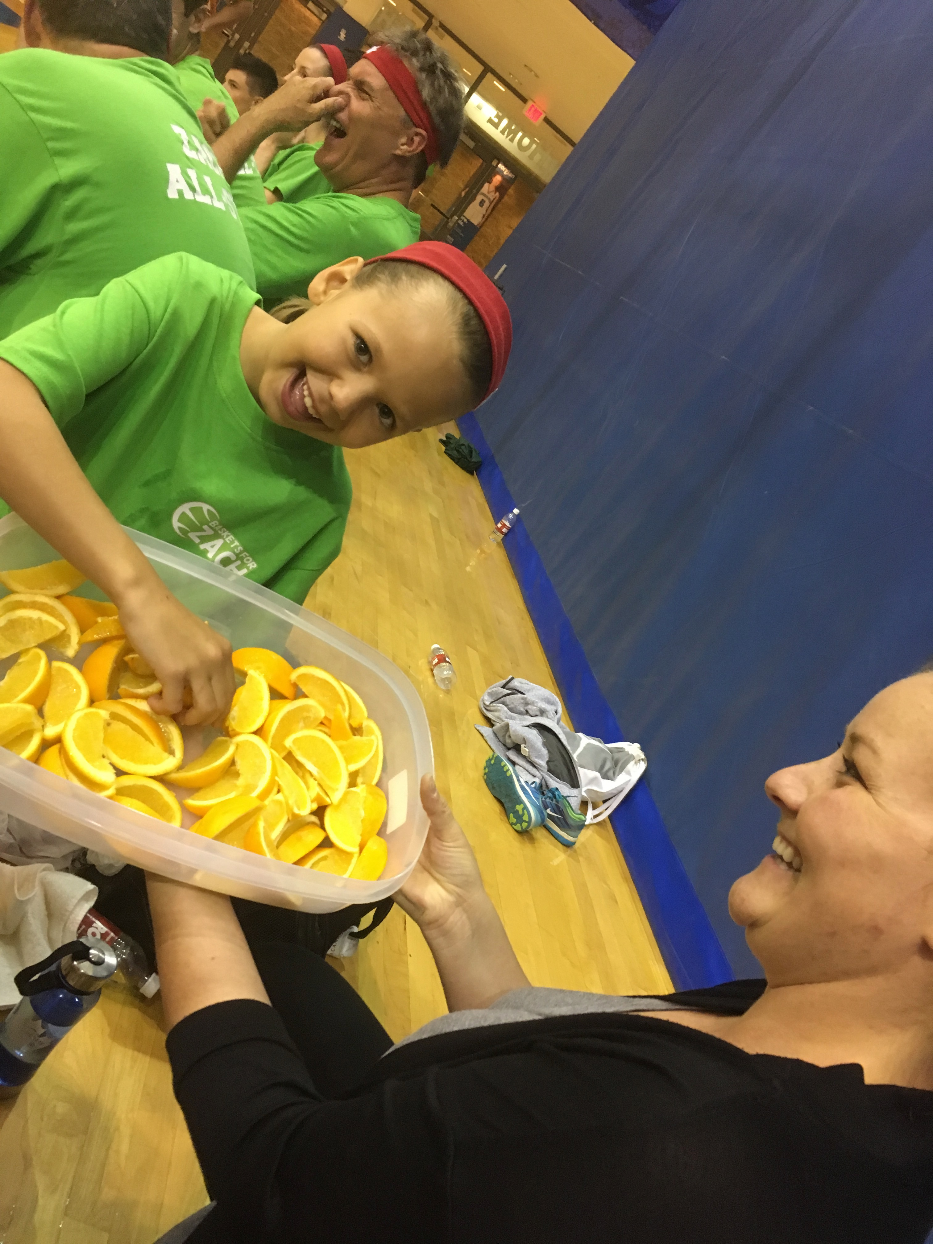 Lucy was our youngest player - and quite a spitfire on the court! Her favourite part was the oranges ;)