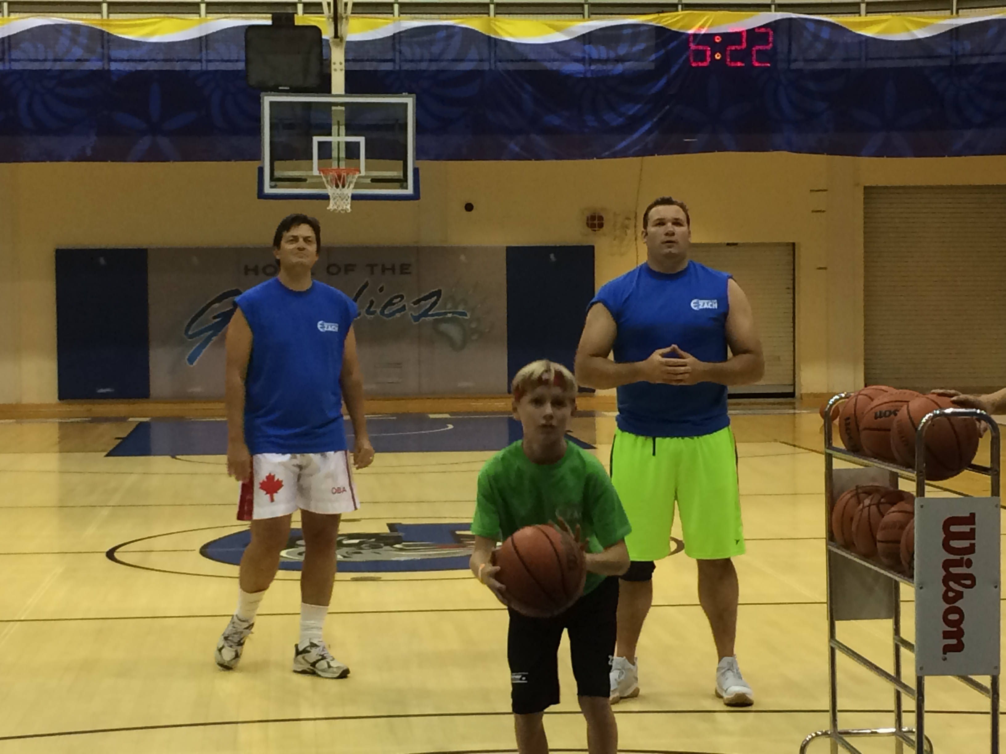 Jeff, Alex and Zach during the competition